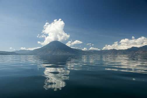 It's not every day you drive towards a volcano in a speedboat