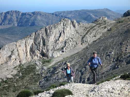 Anna near Serrella summit  Dec 09