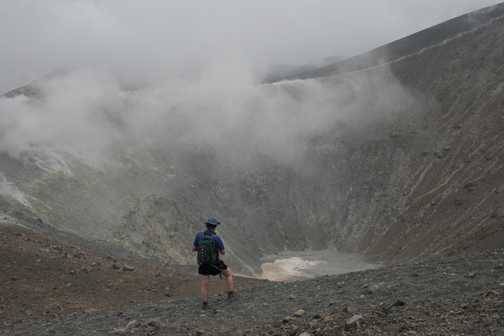 Gazing into Vulcano's crater