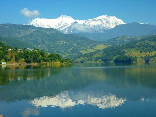 Pokhara - View of Himalayan Range
