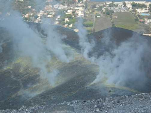 Fumaroles on Vulcano