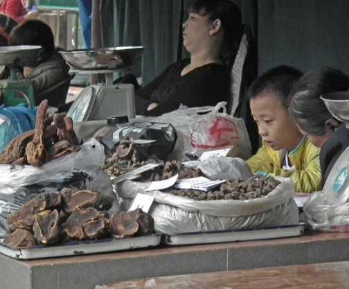 market stall Leshan