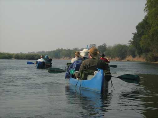 Day one paddling