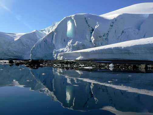 Mirror refelctions at Enterprise Island, Antarctic peninsular