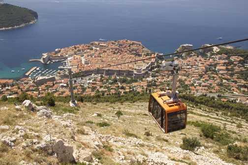 Shelled defensive foxhole above Dubrovnik