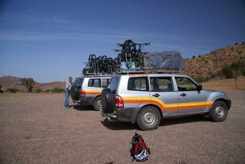 The faithful support vehicles.
