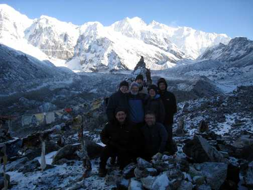 Group at the viewpoint, c 4500m
