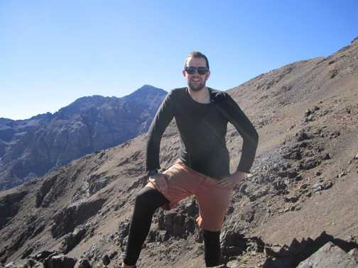 Summit of Toubkal in view