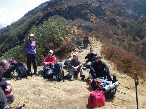 3/4 a break in the trek
