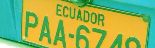 Ecuador number plate
