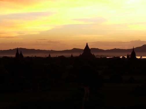 Bagan Plain at sunset