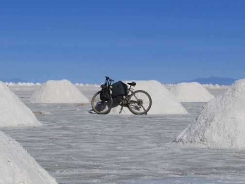 Salt flats - choose your favourite pile