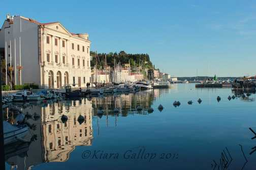 Relections at sundown, Piran