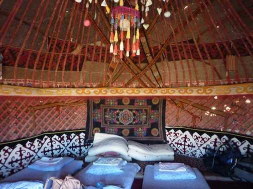 In the yurt