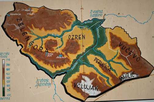 Map of Sutjeska National Park