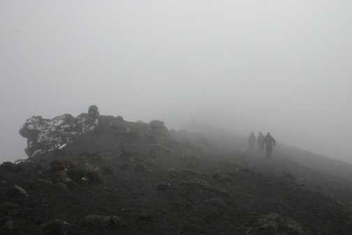 change in the weather on kilimanjaro