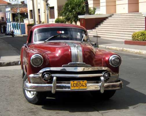 Vintage car, Santiago de Cuba
