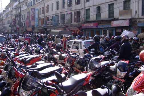 Kathmandu gridlock