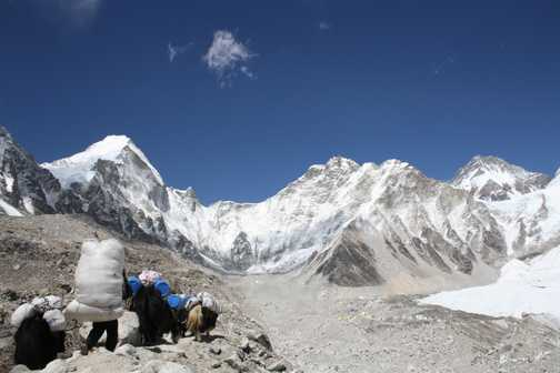 First views of Everest Basecamp