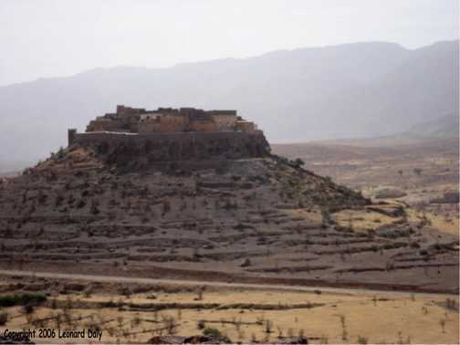 Remote walled village in the Anti Atlas mountains