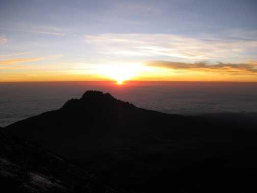 Sunrise - Stella Point is in sight......