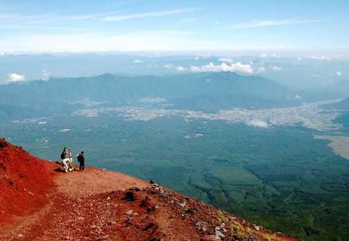 Descending Mount Fuji