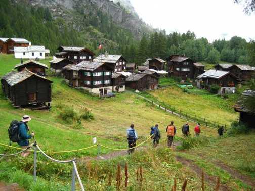 Picturesque villages above Zermatt