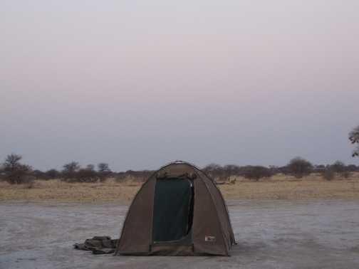Camping in Nxai Pan