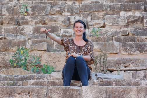 Erin the decision maker in the Amphitheatre