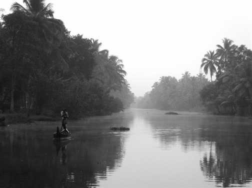 Early morning Keralan backwaters