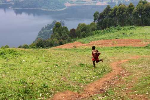 Am I nearly there yet! - Lake Bunyonyi