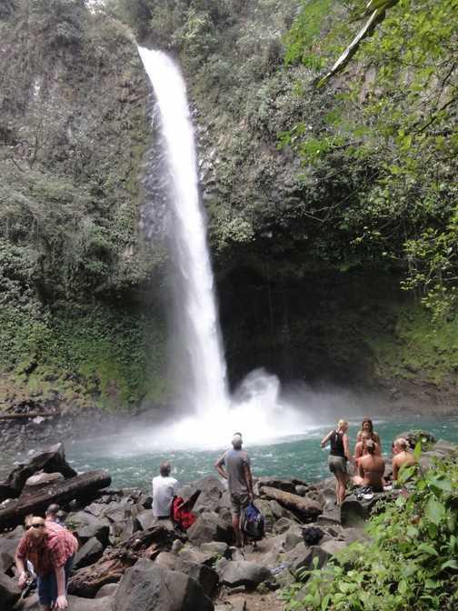 Beautiful La Fortuna Waterfall the hike down numerous steps was worth it