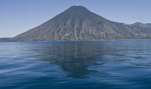 Volcano reflection