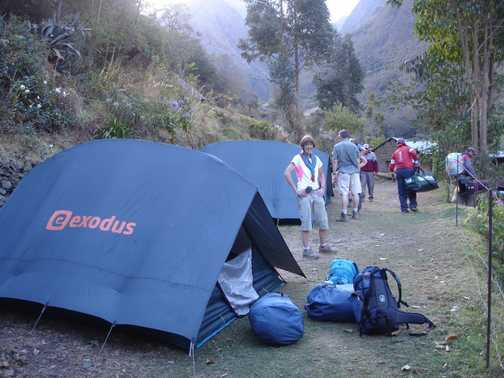 Our first campsite on the Inca Trail