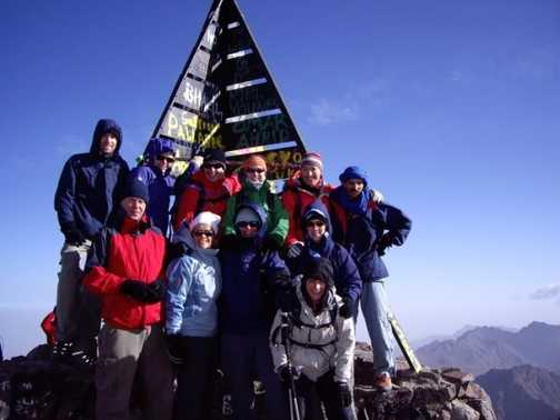 Our group at the summit