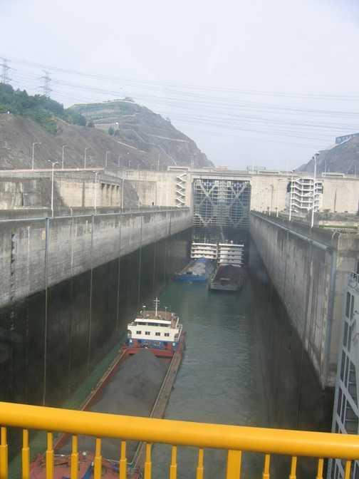 Yangtze Three Gorges Dam Canal Lock