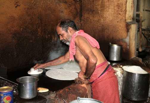 Cooking supper in Madurai