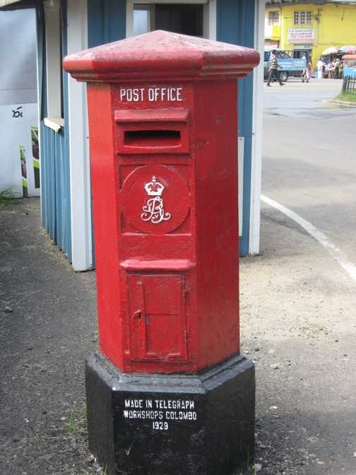 Post box at Nuwara Eliya (Little England)
