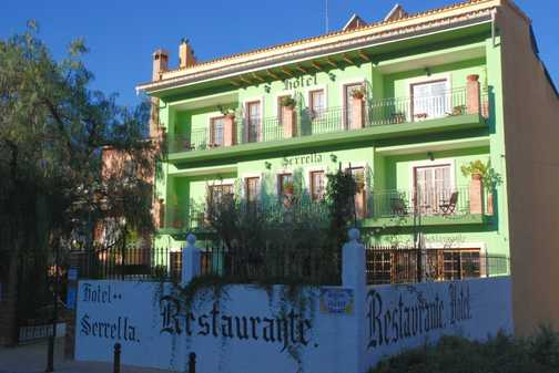 Hotel Serrella, Castell de castells, our first accommodation of the week