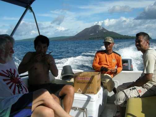 krakatao island