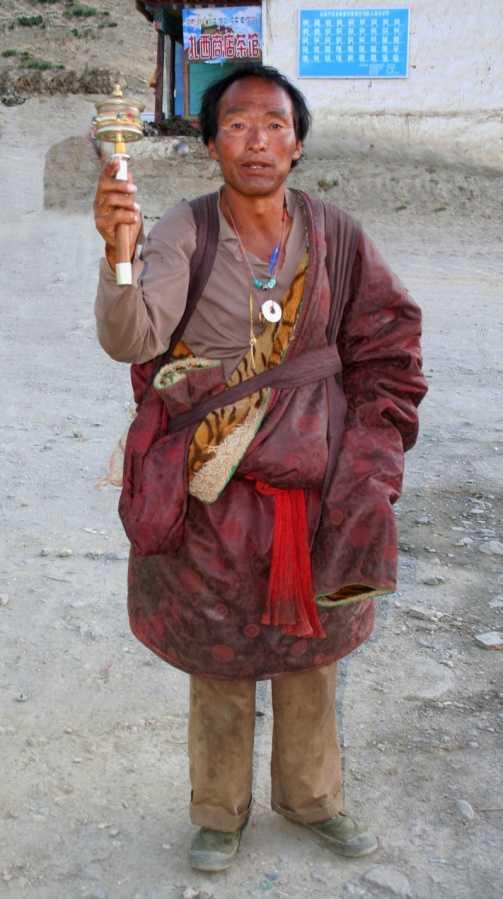 Pilgrim @ Yumbu Lakhang Monastery