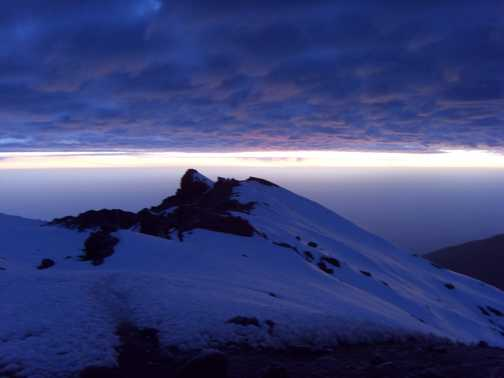Sunrise on the summit