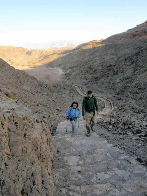 Trek to Hathor's temple