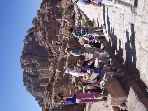 Group on street in Petra