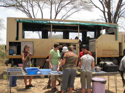 Preparing lunch in the serengeti