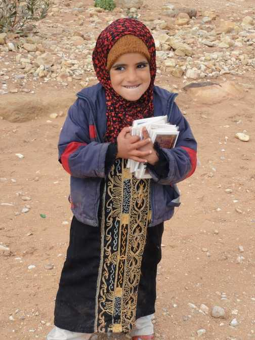 Little Bedouin girl with such cold hands!