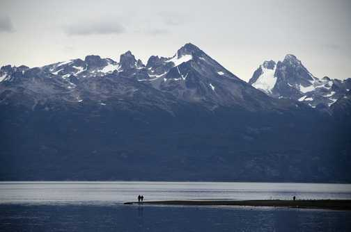 Group members strolling by the Beagle Channel - Ushuaia
