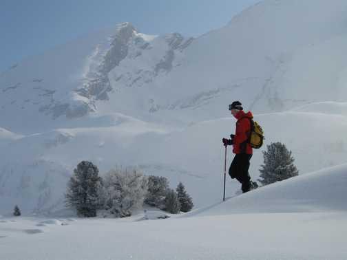 Peter. Wonderful deep snow, sunshine and mountains.