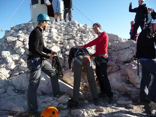 Day 5 - Summit Tradition or the Guides just having some fun?