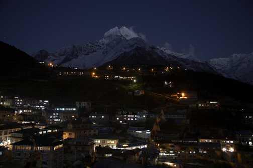 Namche Bazar at night